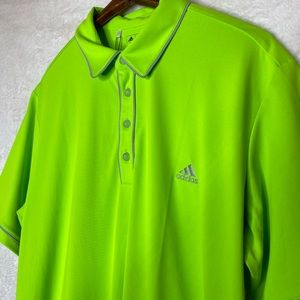 adidas Shirts - Adidas Golf Neon Green Shirt NWT